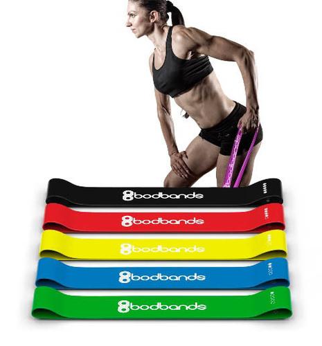 Резинки для фитнеса BODBANDS, 5 штук
