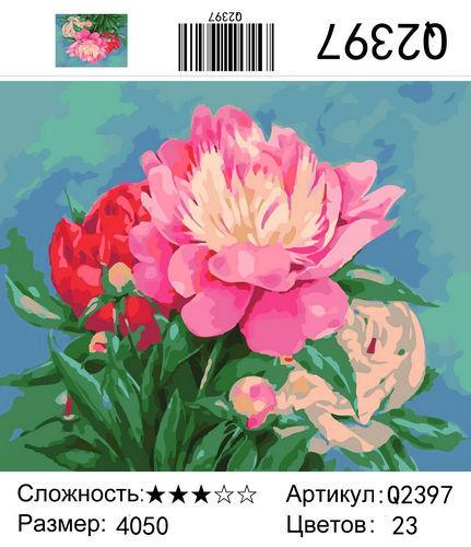 "РН Q2397 ""Три цветка"", 40х50 см"