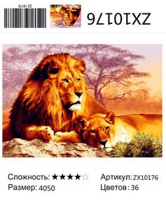 """АМ45 ZX10176 """"Пара львов"""", 40х50 см"""
