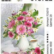 "АКВ45 FZ6210 ""Розовый букет в белой вазе"", 40х50 см"