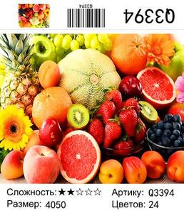 """РН Q3394 """"Фрукты-овощи"""", 40х50 см"""