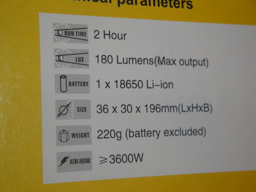 УЦНФ Фонарь-электрошокер 2012 TYPE (фото, вид 3)