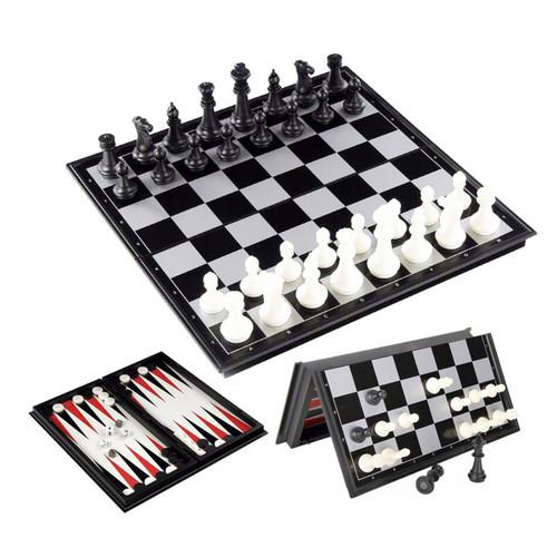 Шахматы магнитные 3 в 1, 24х24 см. (фото, вид 1)