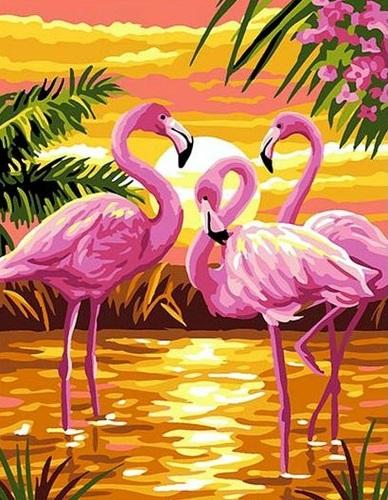 """РН GX24159 """"Три фламинго на закате"""", 40х50 см"""