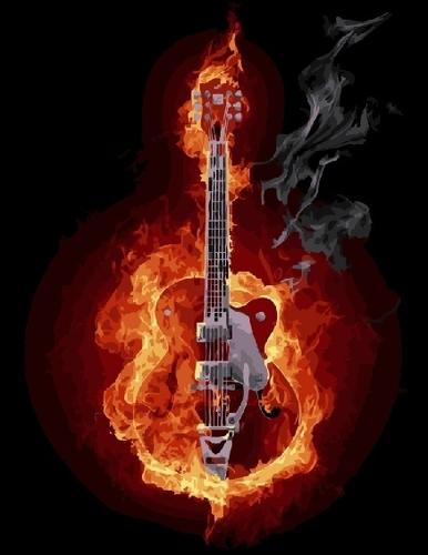 """РН GX21922 """"Огненная гитара"""", 40х50 см"""