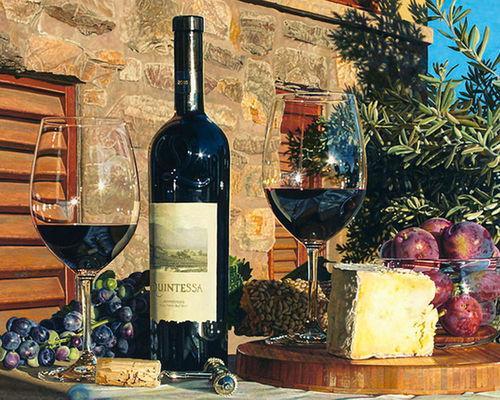 """РН GX3923 """"Вино и два бокала"""", 40х50 см"""
