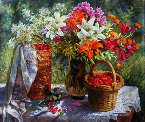 """РН GX26800 """"Полевые цветы и ягоды"""", 40х50 см"""