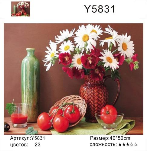 """РН Y5831 """"Ромашки, помидоры"""", 40х50 см"""