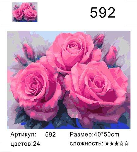 """РД 592 """"Три розы"""", 40х50 см"""