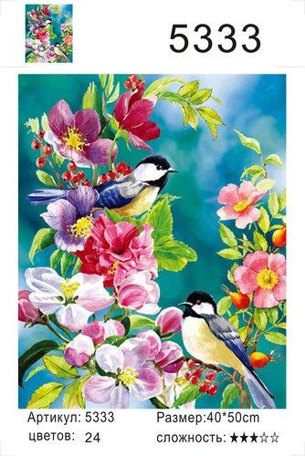 """РД 5333 """"Две птички на цветах"""", 40х50 см"""