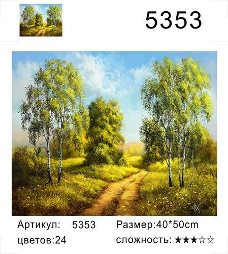 """РД 5353 """"Дорога между берез"""", 40х50 см"""
