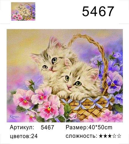 "РД 5467 ""Два котенка в корзинке"", 40х50 см"