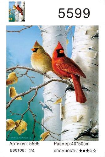 """РД 5599 """"Две птицы на березе"""", 40х50 см"""