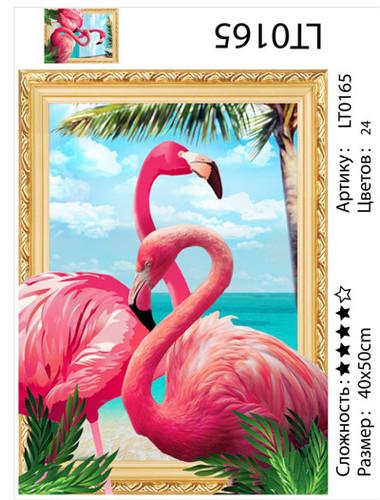 """АМ3D LT0165 """"Два фламинго"""", 40х50 см"""