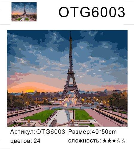"""РН OTG6003 """"Эйфель на восходе"""", 40х50 см"""