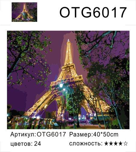 """РН OTG6017 """"Светящийся Эйфель"""", 40х50 см"""