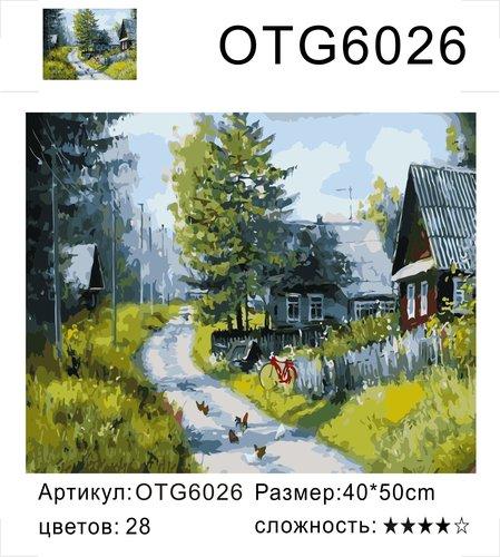 """РН OTG6026 """"Дорога с курами через деревню"""", 40х50 см"""