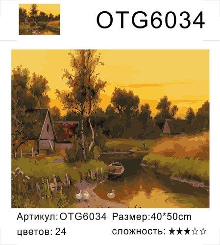 """РН OTG6034 """"Лодка, гуси, домики"""", 40х50 см"""