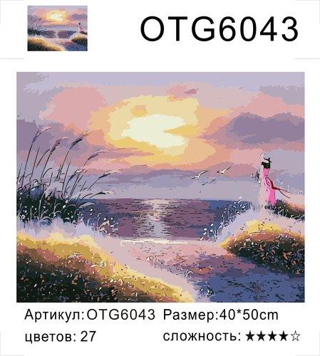 """РН OTG6043 """"Девушка на морском берегу"""", 40х50 см"""