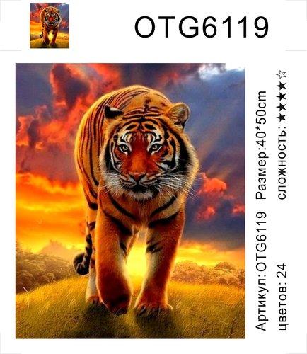 "РН OTG6119 ""Тигр на закате"", 40х50 см"