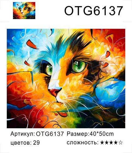 """РН OTG6137 """"Взгляд цветной кошки"""", 40х50 см"""