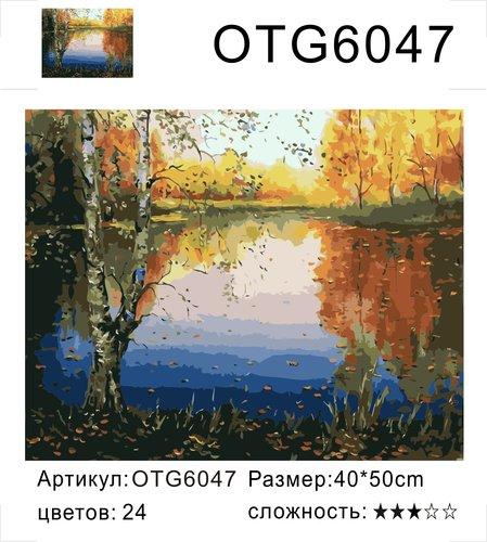 "РН OTG6047 ""Две березы у озера"", 40х50 см"