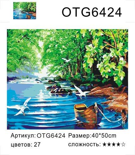 "РН OTG6424 ""Чайки, лодка"", 40х50 см"