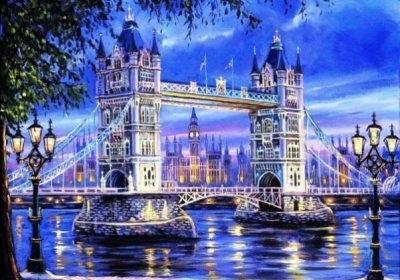 """ВК1919 """"Лондонский мост"""" 39х48 см"""