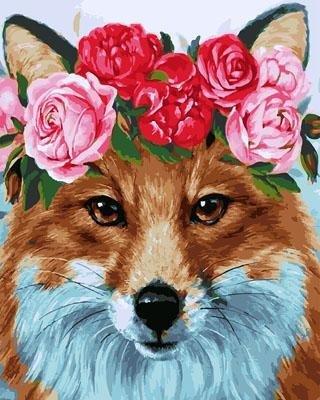 """РН GX29205 """"Лиса в венке из роз"""", 40х50 см"""