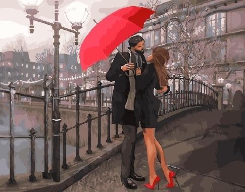 "РН GX29033 ""Объятия под красным зонтом"", 40х50 см"