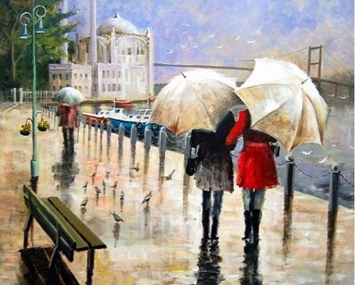 "РН GX31607 ""Две девушки под зонтами"", 40х50 см"