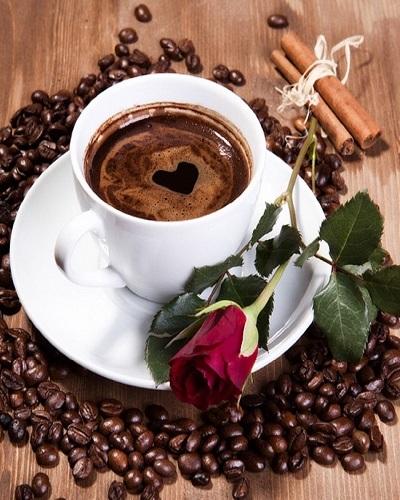 "АМ45 LAG1535 ""Кофе с розой"", 40х50 см"