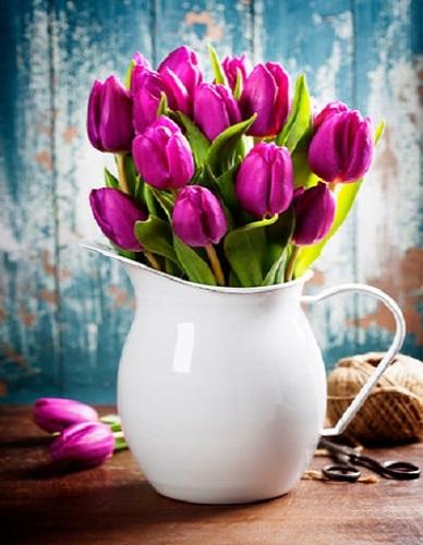 """РН GX31612 """"Тюльпаны в белом кувшине"""", 40х50 см"""