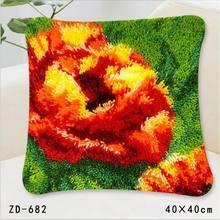 """ZD-682 """"Цветок на зеленом фоне"""", 40х40 см"""