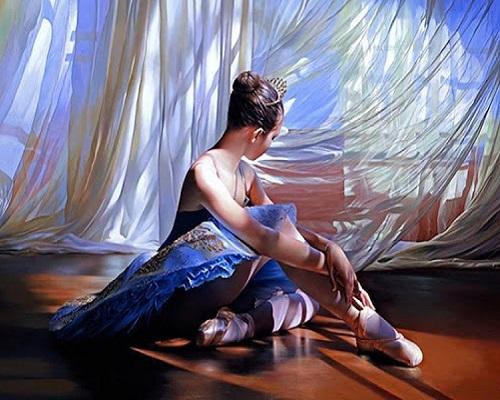 """РН GX29180 """"Балерина сидит на полу"""", 40х50 см"""