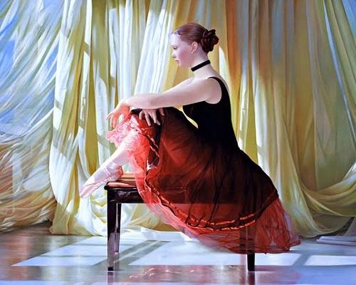 """РН GX29181 """"Балерина сидит на скамейке"""", 40х50 см"""