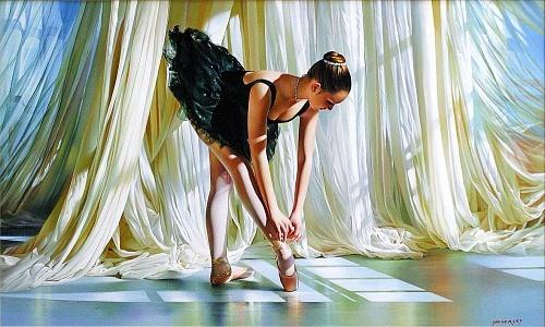 """РН GX31188 """"Балерина завязывает пуант"""", 40х50 см"""