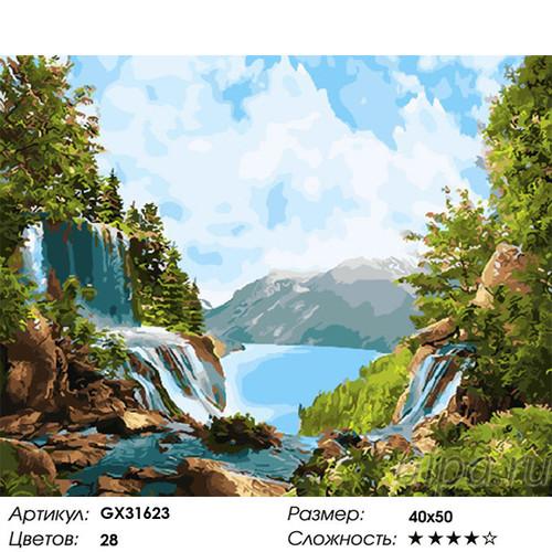 "РН GX31623 ""Два водопада"", 40х50 см"