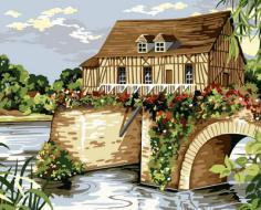 """РН GX32155 """"Дом на плотине"""", 40х50 см"""