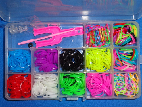 Набор резинок для плетения DIY, 12 цветов