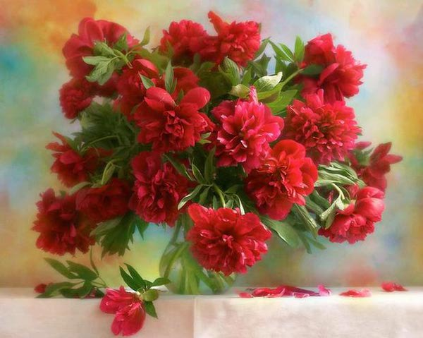 "РН GX7527 ""Букет красных цветов"", 40х50 см"