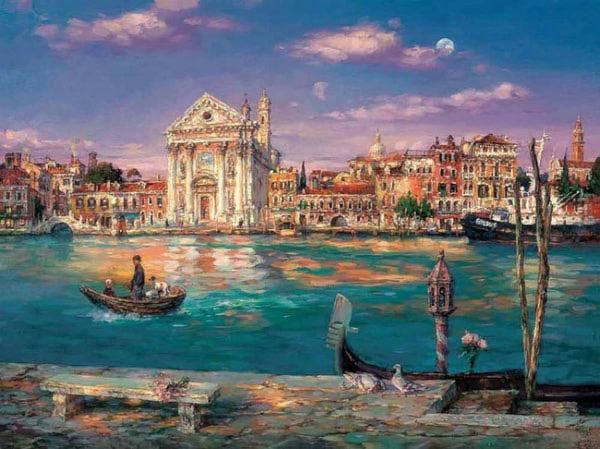 "РН GХ7898 ""Бирюзовая река в Венеции"", 40х50 см"