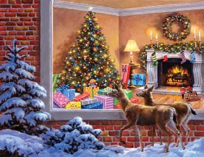 """РН GХ8139 """"Косули смотрят на подарки"""", 40х50 см"""