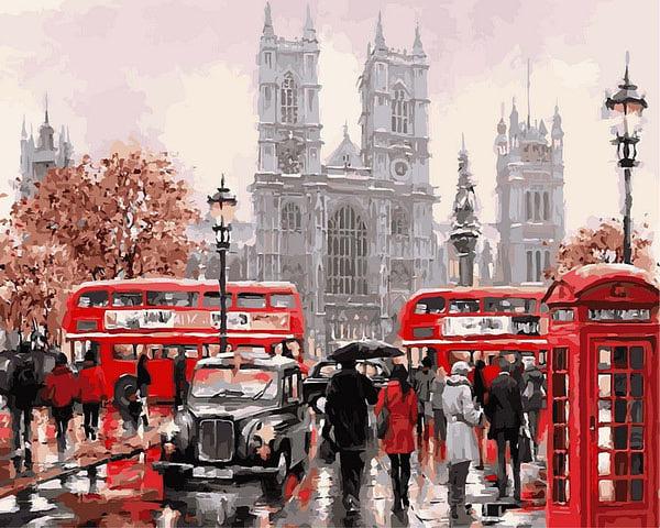 "РН GХ8088 ""Дождливый Лондон"", 40х50 см"
