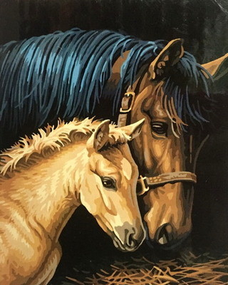 """РН GХ6931 """"Лошадь и жеребенок"""", 40х50 см"""