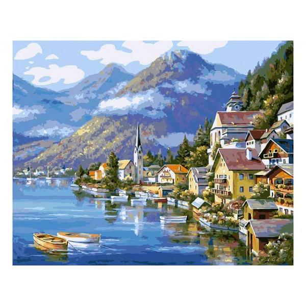 """РН GХ6936 """"Залив, лодки, дома"""", 40х50 см"""