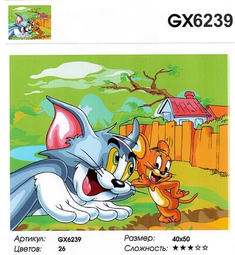 """РН GX6239 """"Том и Джерри"""", 40х50 см"""