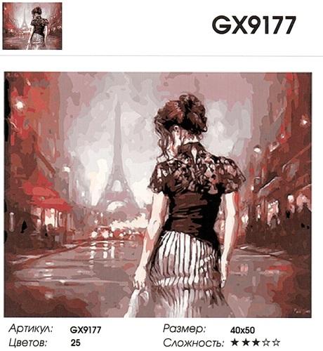 "РН GX9177 ""Девушка спиной в Париже"", 40х50 см"