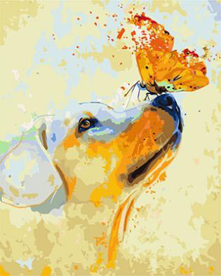 "РН GX9057 ""Собака с бабочкой на носу"", 40х50 см"