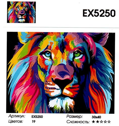 """РЗ ЕХ5250 """"Радужный лев"""", 30х40 см"""